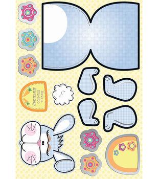 Kanban Crafts Wobbler Die-Cut Punch-Out Card-1PK/HipHop Henry