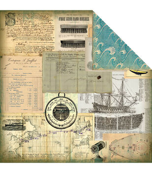 7 Gypsies Maritime Double-Sided Paper Voilier