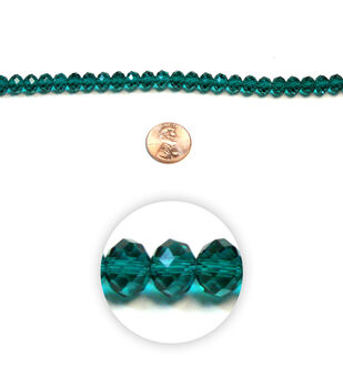 Large Wheel Faceted Glass Beads