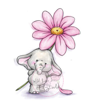 Wild Rose Studio Clear Stamp Set Bella With Daisy