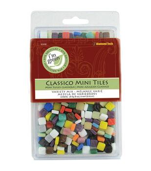 """Classico Mini Tile Mix 5/16"""" 8oz/Pkg-Assorted Colors"""