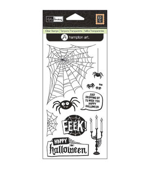 "Kelly Panacci Clear Stamps 4""X9"" Sheet-Halloween Spider"