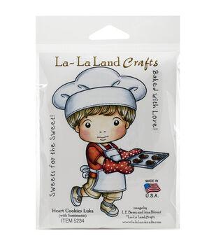 La-La Land Crafts Heart Cookies Luka Cling Mount Rubber Stamps