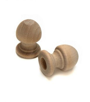 Wood Shapes Acorn Dowel Cap  2 per Package