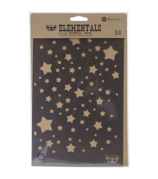 "Prima Elementals Stencil 6.5""X10.25""-Stars"
