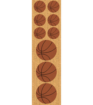 Reminisce Real Sports Chipboard Stickers-Basketball