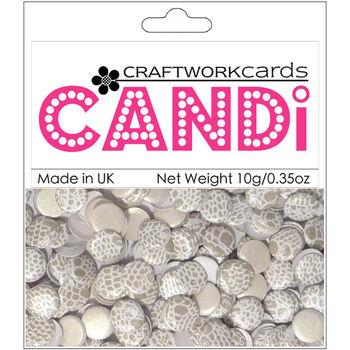 Craftwork Cards Candi Dot Printed Embellishments Olive