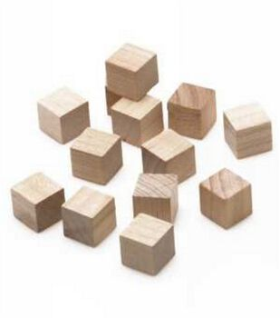 Unfinished Wood Blocks-13PK