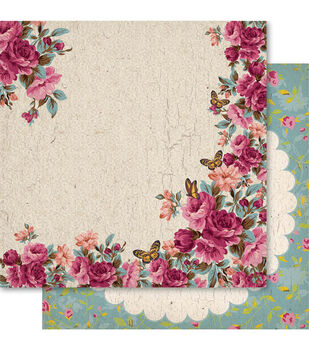 Ruby Rock-It Heritage Country Garden Double-Sided Cardstock