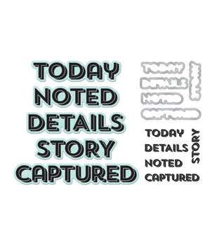 """Lifestyle Dies & Stamps Set-Noted, 2.4""""X.5"""" To 3.9""""X.7"""""""