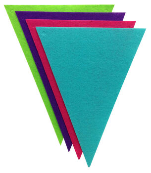 Stiff Felt Banner Pieces - 4 Pack - Triangles - Brights