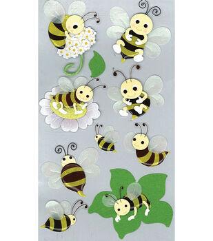 Jolee's Boutique Le Grande Dimensional Sticker-Bumblebees