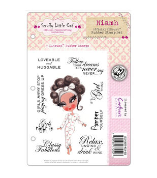 Crafter's Companion Scruffy Little Cat Niamh Cling Stamp Set