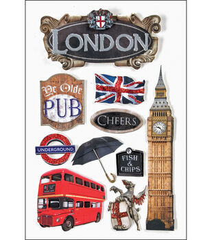 Paper House Travel 3-D Stickers-London