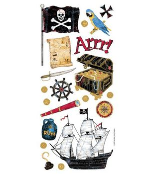 Sandylion Stickers/Borders-Pirate