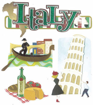 Jolee's Boutique Dimensional Sticker-Italy