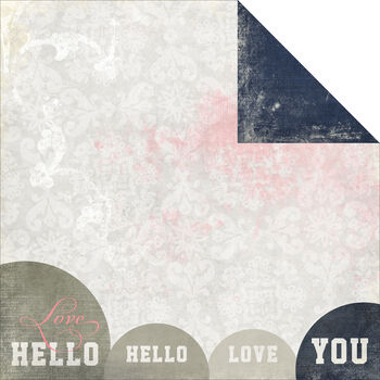 Glitz Design Love You Madly Hello Double-Sided Paper 12''x12''