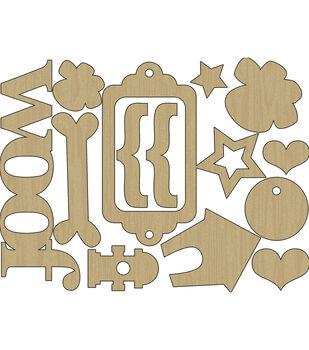 Hound Dog Laser-Cut Wood Shapes-Woof