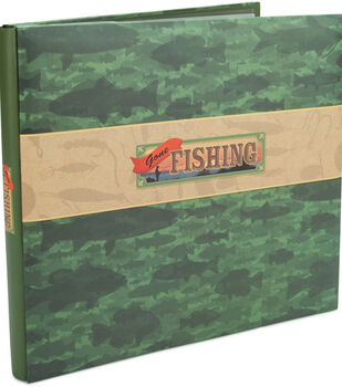 Karen Foster  12''x12'' Postbound Album-Gone Fishing