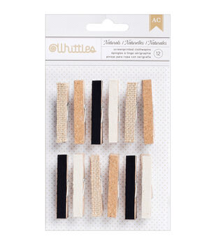 American Crafts Whittles Naturals Clothespins