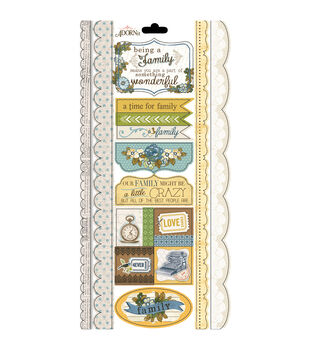 Adorn-It Wisteria Family Time Cardstock Stickers