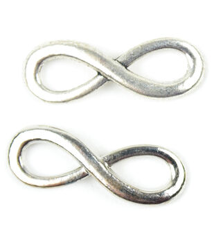 Midwest Design Paracord Silver Infinity Charm
