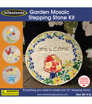 Garden Mosaic Stepping Stone Kit