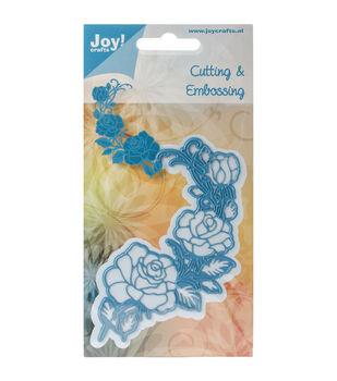 """Joy! Crafts Cut & Emboss Die-Rose Corner, 4""""X2.75"""""""