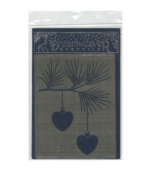 Stampendous Dreamweaver Metal Heart Ornaments Stencil