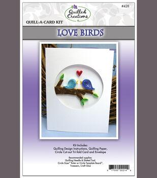 LOVE BIRDS-QUILL-A-CARD KIT