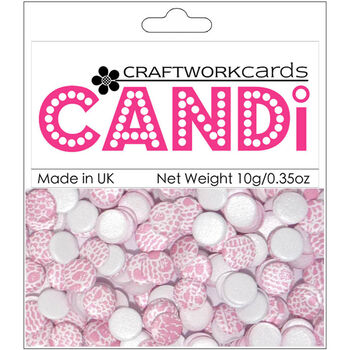 Craftwork Cards Candi Dot Printed Embellishments Champagne