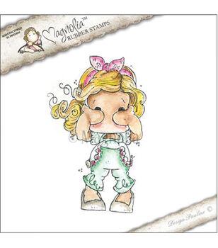 Magnolia See No Evil Tilda Cling Stamp 6''x3''