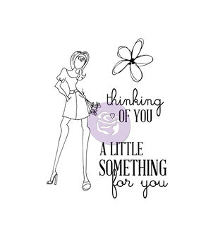 Prima Marketing Julie Nutting Mixed Media For You Set Cling Rubber Stamp