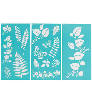 Martha Stewart Large Stencils 3 Sheets/Pk-Ferns/Boughs
