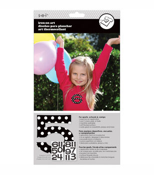Sei Iron-On Number Transfer Sheets Polka Dot