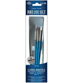 Value Pack Brush Sets-Camel/Bristle