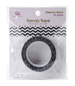 Trendy Tape Core Collection 15mmX10yd-Chevron Black
