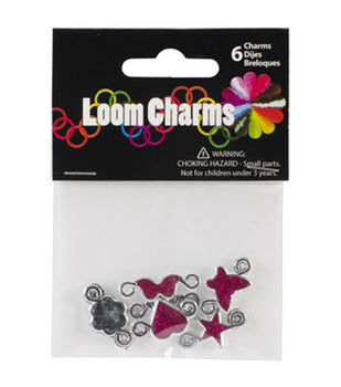 Midwest Design Loom Band Glitter Charms