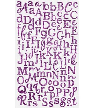 Making Memories Cheeky Shimmer Alphabet Stickers