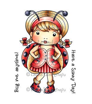 La-La Land Crafts Ladybug Marci Cling Mounted Rubber Stamps