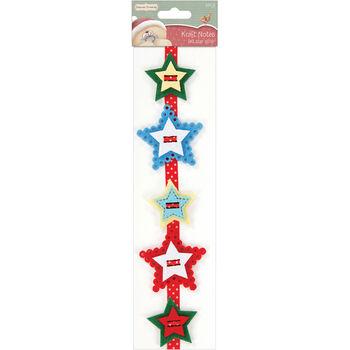 Docrafts Forever Friends Christmas Felt Strip Kraft Notes Star