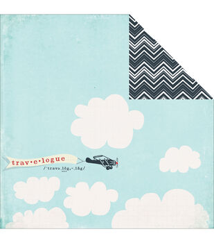"""In the Clouds - Nautical Double-sided Cardstock 12""""x12"""""""