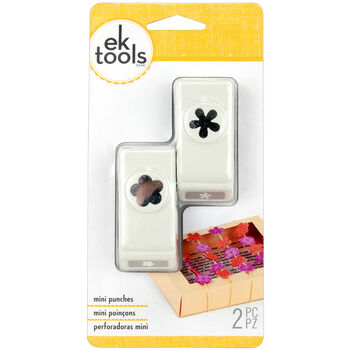 EK Success Mini Punch Set Flower & Retro Flower
