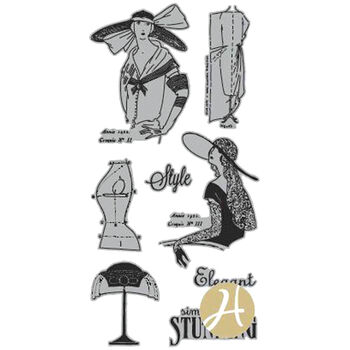 Hampton Art Graphic 45 Couture Acetate Cling Stamps Couture 2