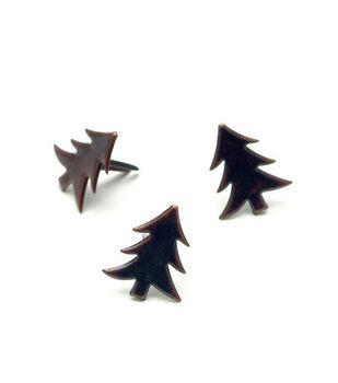 Metal Paper Fasteners-50PK/Antique Copper Trees