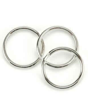 Split Key Ring 1'' 10/Pkg-Nickel