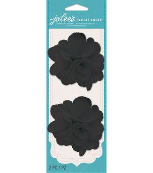 Jolee's Boutique - Black Burlap Flowers