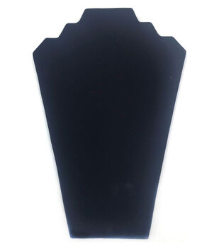 Darice Velvet Necklace Stand Black 12.63'' x 8.25''
