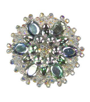 Laliberi Rhinestone Pin - Crystal AB Burst in Silver