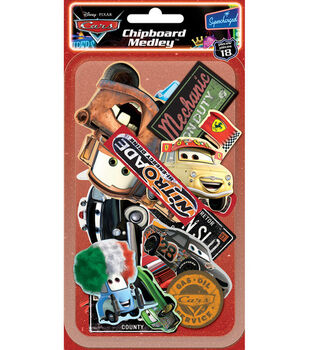 Disney PIXAR Chipboard Medley-Cars